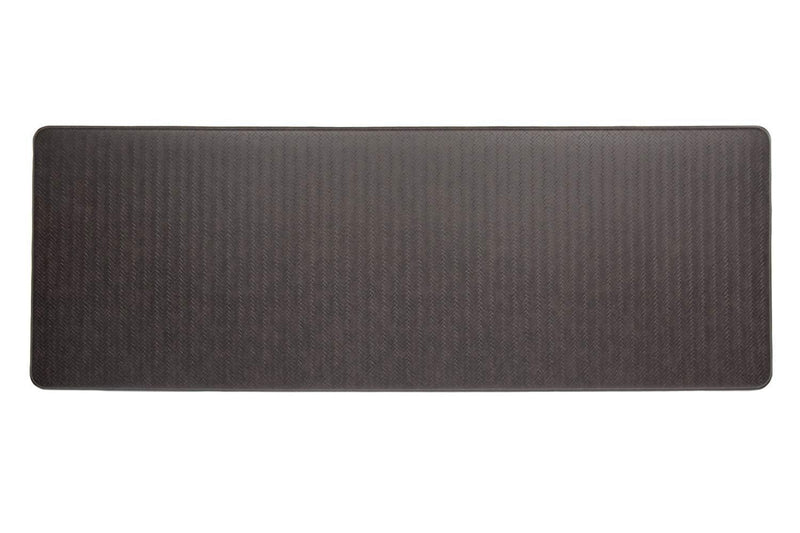 Imprint Cumulus9 Kitchen Mat Chevron Series  20 in. x 36 in. x 5/8 in. Espresso