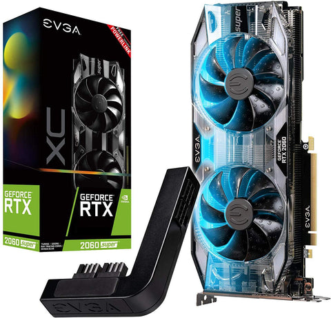 EVGA GeForce RTX 2060 Super XC Ultra, Overclocked, 2.75 Slot Extreme Cool Dual, 65C Gaming, RGB, Metal Backplate, 8GB GDDR6, 08G-P4-3163-KR