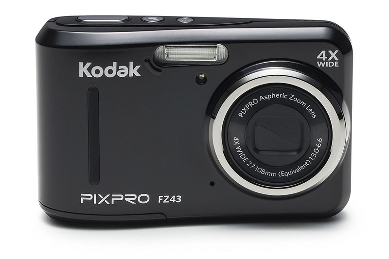 "Kodak PIXPRO Friendly Zoom FZ43-BK 16MP Digital Camera with 4X Optical Zoom and 2.7"" LCD Screen (Black)"