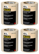 Scotch Contractor Grade Masking Tape, 0.94 inches x 60.1 yards (360 yards total), 2020, 6 Rolls