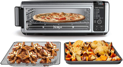 "Ninja Foodi 8-in-1 Digital, Toaster, Air Fryer, with Flip-Away for Storage Multi-Purpose Counter-top Convection Oven (SP101), 19.7"" W x 7.5""H x 15.1""D, Stainless Steel/Black"