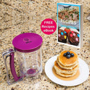 Pancake Batter Dispenser - KPKitchen Easy Pour Home Kitchen Gadgets - Perfect Baking of Cupcakes, Waffles, Cakes, Muffin Mix, Crepes, Donuts or Any Baked Goods - Bakeware Maker with Measuring Label