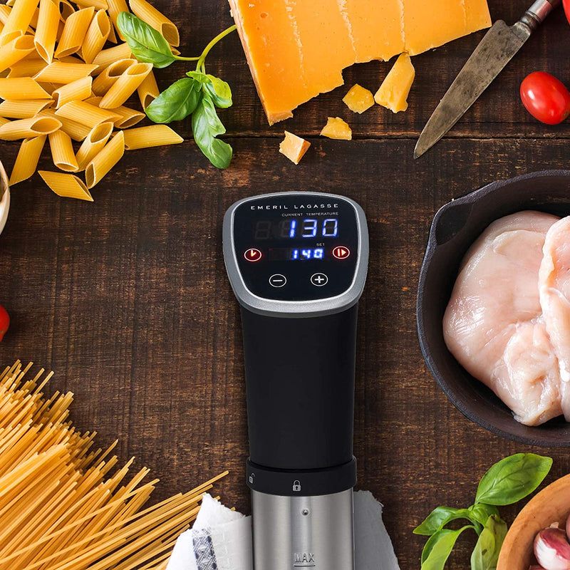 Emeril Lagasse Everyday Sous Vide Cooker, Thermal Immersion Circulator, Sous Vide Machine for Accurate Temperature Control w/ 5 Emeril Recipe Cards, Perfect for Poultry, Seafood, Eggs, More