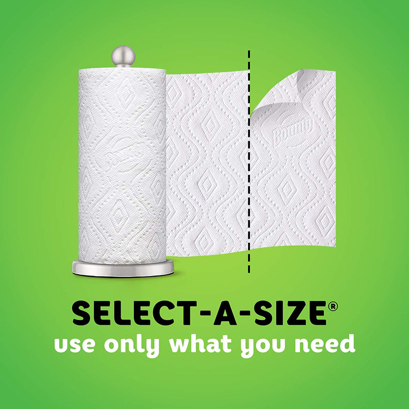 Bounty Select-A-Size Paper Towels, Print, 6 Double Rolls = 12 Regular Rolls (Packaging May Vary)