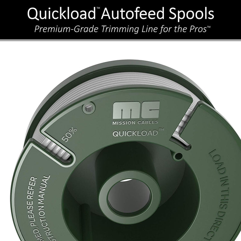 "Mission Quickload 0.065"" Replacement Autofeed Spool 6-Pack (Compatible with BLACK and DECKER String Trimmers)"