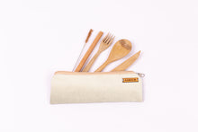 Individual Bamboo Travel Utensil Set With Carrying Case