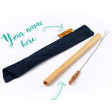 Slide-in Bamboo Straw Travel Kit
