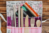 Utensil Wrap (Cutlery & Straw Set Included)