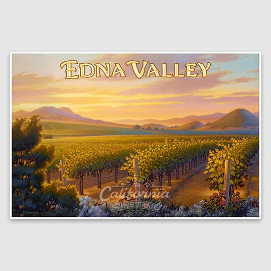 Edna Valley poster on paper