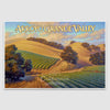 Arroyo Grande Valley poster print on paper