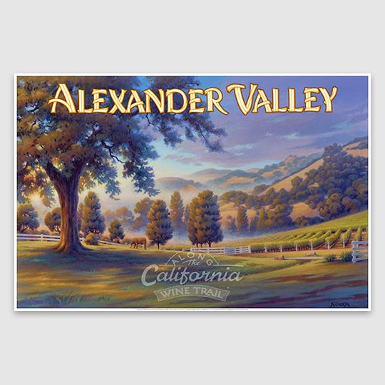 Alexander Valley AVA paper poster print