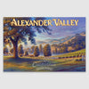 Alexander Valley AVA canvas poster print