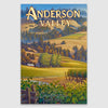 Anderson Valley AVA canvas poster print