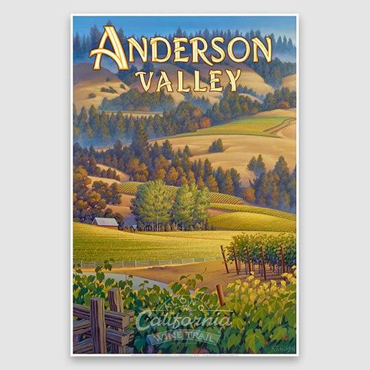 Anderson Valley AVA paper poster print