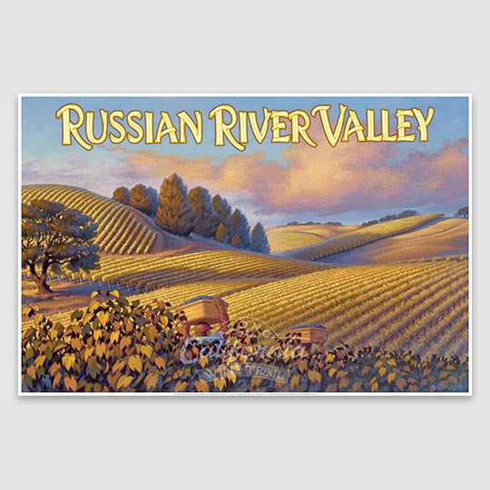 Russian River Valley Poster paper print