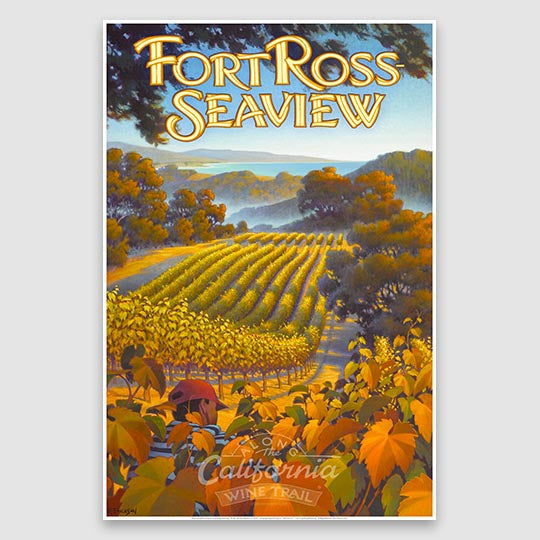 Fort Ross Seaview AVA Paper Poster Print
