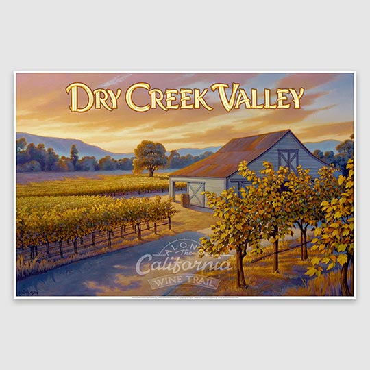Dry Creek Valley AVA paper poster print