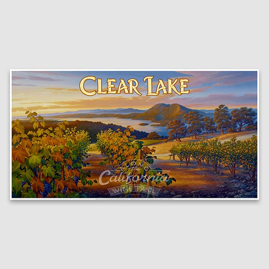 Clear Lake AVA Paper poster print