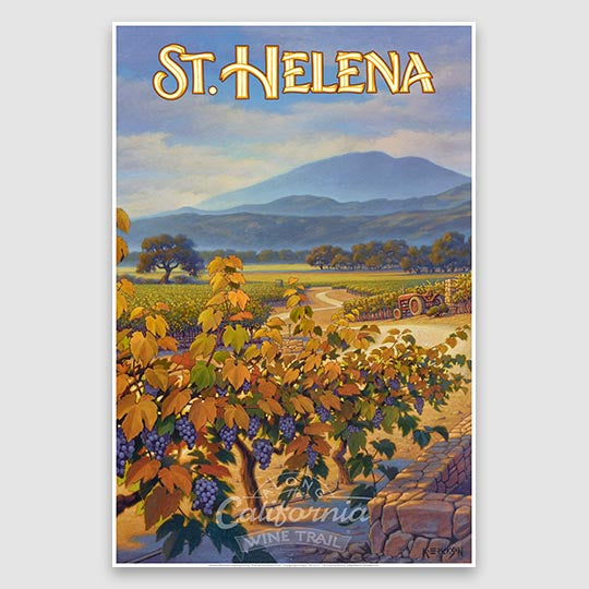 St. Helena AVA Giclée Poster Print on Paper or Canvas