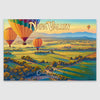 Napa Valley poster print on Canvas