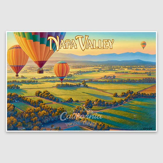 Napa Valley Poster print on paper