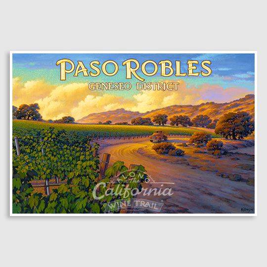 Paso Robles Geneseo District AVA Print on Canvas
