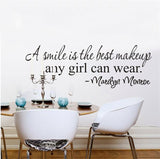 Marilyn Monroe Inspirational Quote Wall Decal - Amazing Steals N Deals
