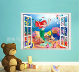 3D Fake Window Ariel Wall Decal