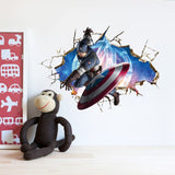 Captain America Break Through The Wall Decal - Amazing Steals N Deals