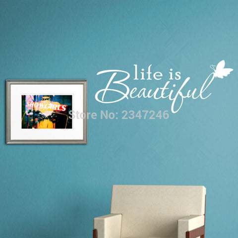 Life Is Beautiful Quote Wall Decal - Amazing Steals N Deals