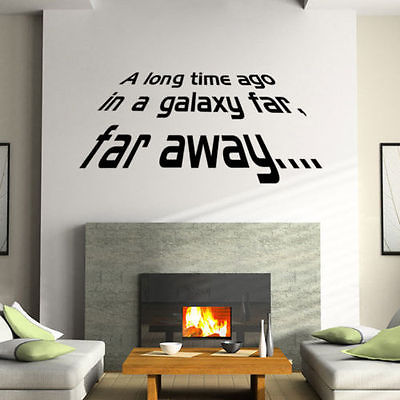Opening Lines Of The Star Wars Saga Wall Decal