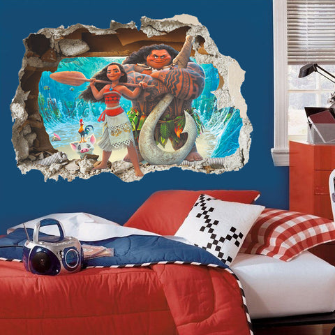 Moana And Maui Wall Decal - Amazing Steals N Deals
