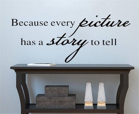 Because Every Picture Quote Wall Decal