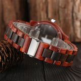 Hollow Wooden Bamboo Quartz Watch For Women - Amazing Steals N Deals
