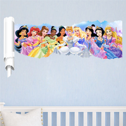 Torn Wall Fairytale Princess Wall Decals - Amazing Steals N Deals