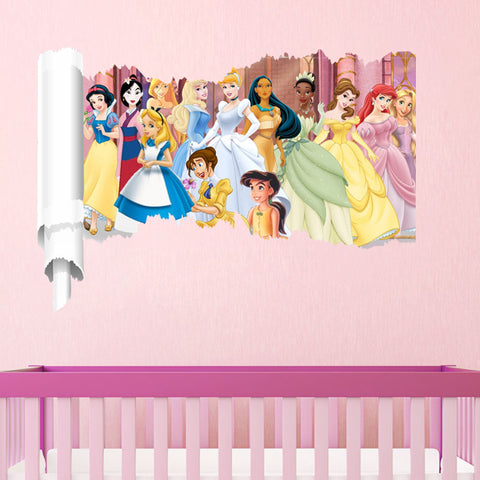 Torn Wall Fairytale Princess Wall Decals