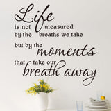 Life Is Not Measured Quote Wall Decal - Amazing Steals N Deals