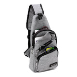 Anti Theft USB Canvas Cross-Body Sling Shoulder Backpack - Amazing Steals N Deals