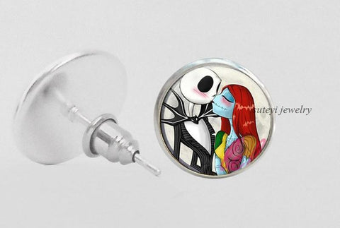 Nightmare Before Christmas Stud Earrings - Amazing Steals N Deals