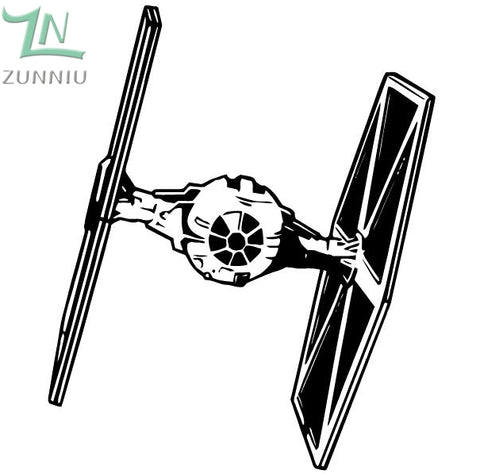Darth Vader Tie Fighter Wall Decal