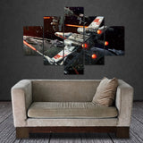 X- Wing Fighter 5 Panel Canvas Print - Amazing Steals N Deals