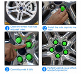 Glow In The Dark Silica Gel Lug Nut Covers - Amazing Steals N Deals