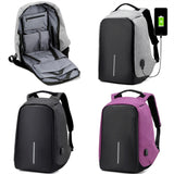 Anti-theft Backpack With USB Charge Port - Amazing Steals N Deals