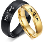 His Queen Her King Stainless Steel Bands - Amazing Steals N Deals