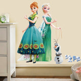 Large Frozen Elsa, Anna And Olaf Wall Decal - Amazing Steals N Deals