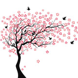Large Pink Cherry Tree Blossoms With Birds - Amazing Steals N Deals