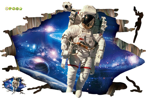 Astronauts 3D Effect Wall Decal