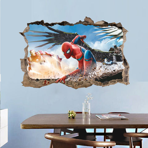 Spiderman 3D Effect Wall Decal - Amazing Steals N Deals