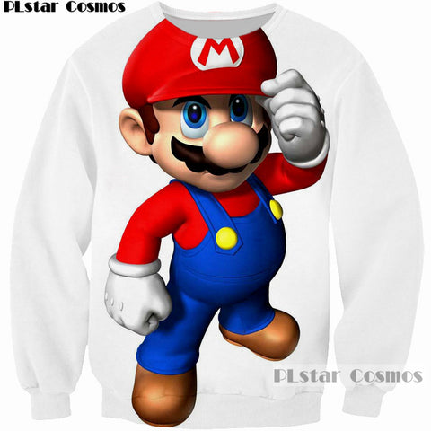 Super Mario Or Luigi 3D Printed Sweatshirt - Order Larger Size