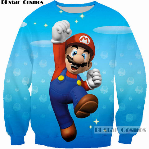 Super Mario 3D Printed Sweatshirt - Order Larger Size - Amazing Steals N Deals